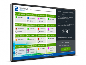 """70"""" Large Touch Screen Display - Right-Facing"""