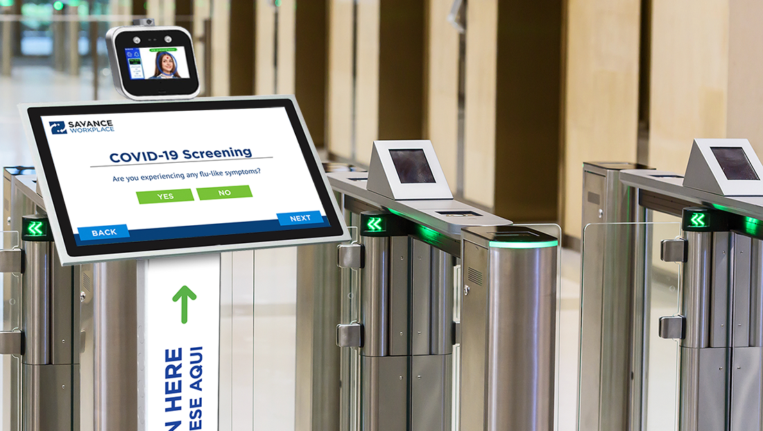 COVID-19 screening controlling door or turnstile