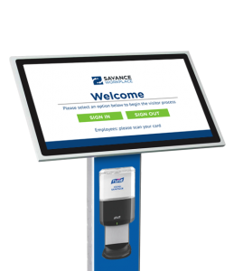 COVID-19 Screening & Protection: Hand Sanitizer Bracket for Visitor Check-In Kiosk