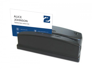 Magnetic & Barcode Card Reader in Use