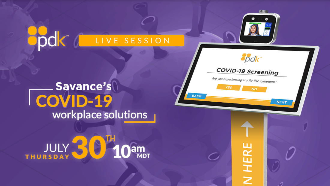 PDK webinar introducing Savance's COVID-19 solutions
